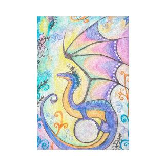 Impressão Em Tela Dragão da primavera