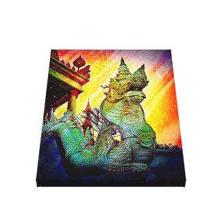Impressão Em Tela Dragão do leste