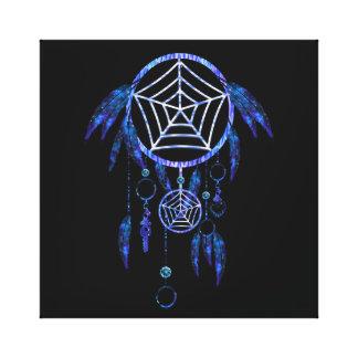Impressão Em Tela Dreamcatcher tribal azul Luminescent