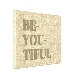Impressão Em Tela É você arte (tiful) da parede