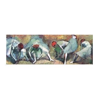 Impressão Em Tela Edgar Degas - dançarinos de balé que amarram