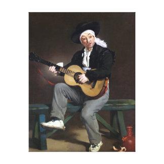 Impressão Em Tela Édouard Manet o cantor espanhol