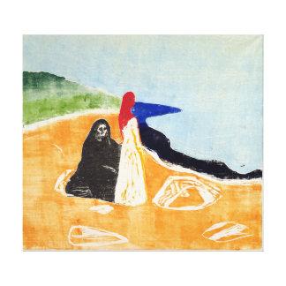 Impressão Em Tela Edvard Munch duas mulheres na costa