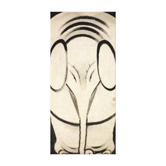 Impressão Em Tela Elefante de Ito Jakuchu