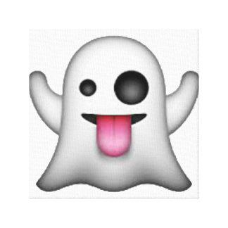 Impressão Em Tela Emoji - fantasma