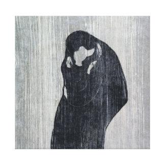 Impressão Em Tela Endvard Munch o beijo IV