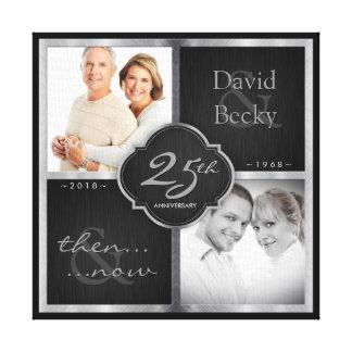 Impressão Em Tela Então e agora 25o aniversário de casamento 2018