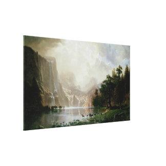 Impressão Em Tela Entre a serra montanhas de Nevada por Bierstadt