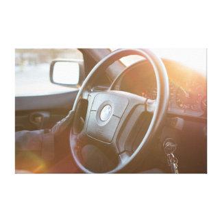 Impressão Em Tela Entusiasta do carro do motorista de BMW