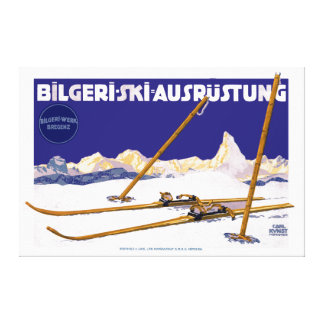 Impressão Em Tela Equipamento do esqui de Carl Kunst Bilgeri do