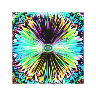 Impressão Em Tela Esboço psicadélico colorido de uma flor 3