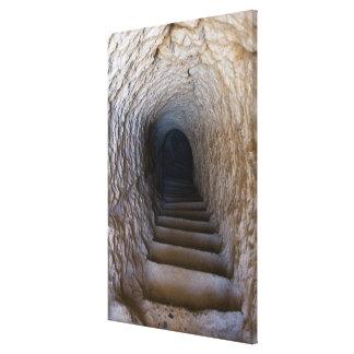 Impressão Em Tela Escadaria da caverna de Vardzia