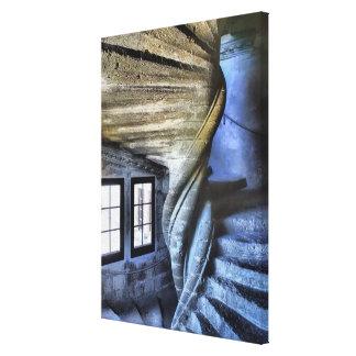 Impressão Em Tela Escadaria espiral torcida, France