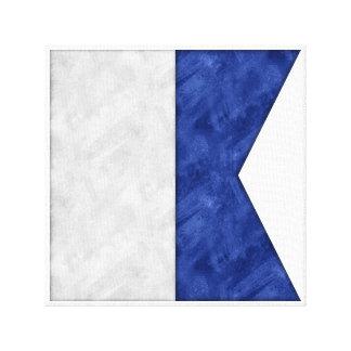 Impressão Em Tela Escolha de 26 bandeiras marítimas náuticas da