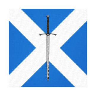 Impressão Em Tela Espada de Bruce em Saltire