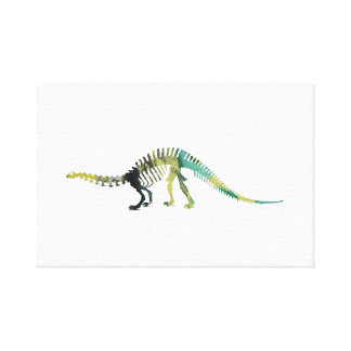 Impressão Em Tela Esqueleto do dinossauro