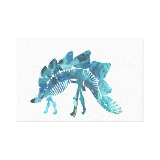 Impressão Em Tela Esqueleto do Stegosaurus