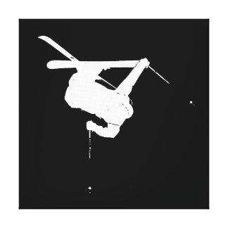 Impressão Em Tela Esquiador preto & branco
