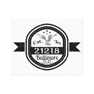 Impressão Em Tela Estabelecido em 21218 Baltimore