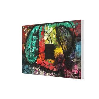 """Impressão Em Tela """"Esticou"""" a pintura original abstrata"""