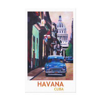 Impressão Em Tela Estilo retro de Cuba Havana