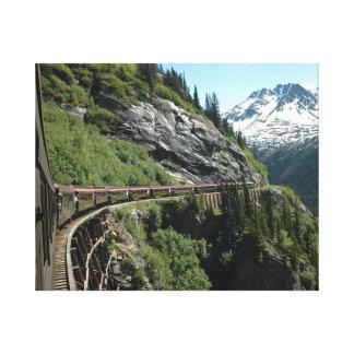 Impressão Em Tela Estrada de ferro de Yukon Alaska