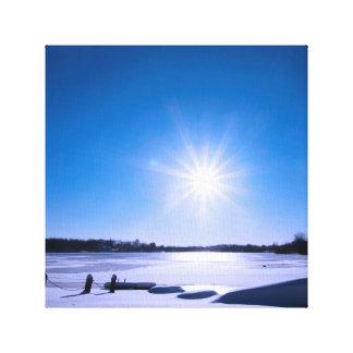 Impressão Em Tela Estrela de Sun na fotografia do lago