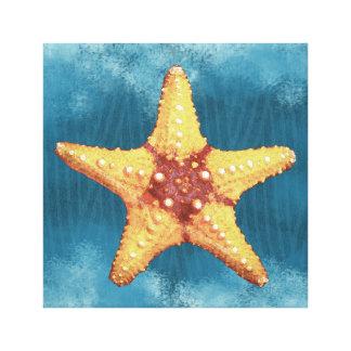 Impressão Em Tela Estrela do mar alaranjada