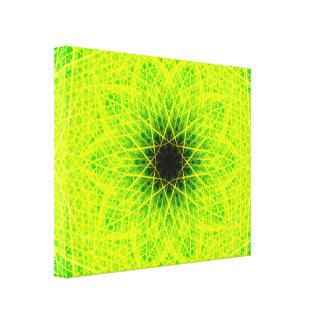 Impressão Em Tela Estrela verde