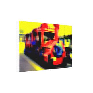 Impressão Em Tela Esvoaça ferrovia