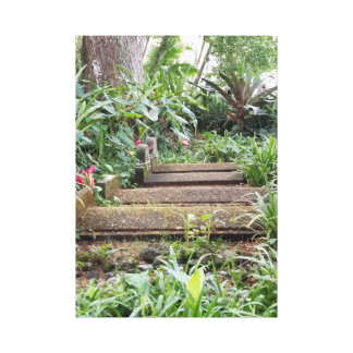 Impressão Em Tela Etapas no jardim botânico de Hawiian