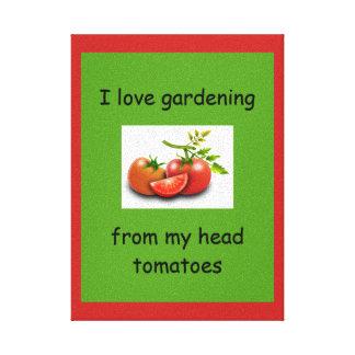 Impressão Em Tela Eu amo jardinar de meus tomates principais