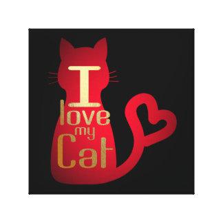 IMPRESSÃO EM TELA EU AMO MEU CAT