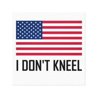 Impressão Em Tela Eu não me ajoelho hino nacional de bandeira
