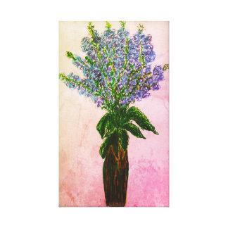 Impressão Em Tela Exposição floral