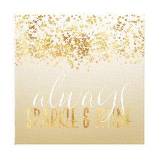 Impressão Em Tela Faísca de Ombre dos confetes do ouro