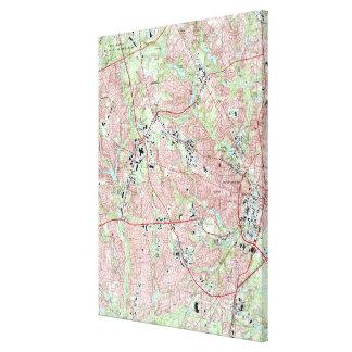 Impressão Em Tela Fayetteville North Carolina Mapa (1997)