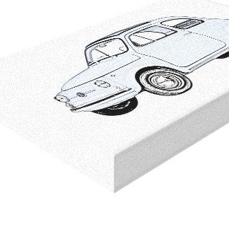 Impressão Em Tela Fiat 500 Topolino