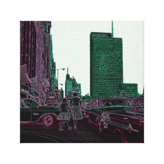 Impressão Em Tela Filha da mãe que compra a avenida Chicago 1961 de