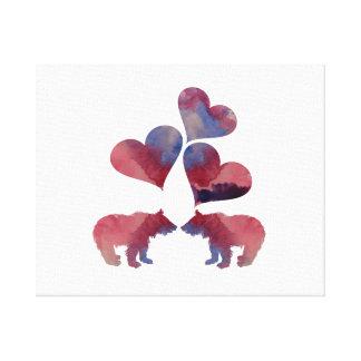 Impressão Em Tela Filhotes de urso