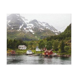 Impressão Em Tela Fiorde - Noruega