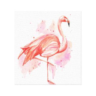 Impressão Em Tela Flamingo
