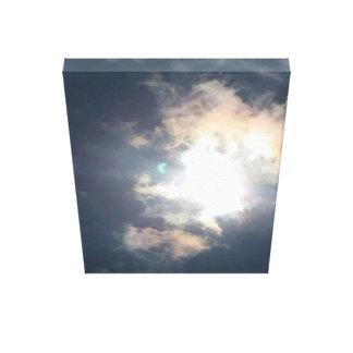Impressão Em Tela Flash verde - eclipse solar, o 21 de agosto de