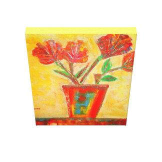 Impressão Em Tela Flores abstratas em um vaso