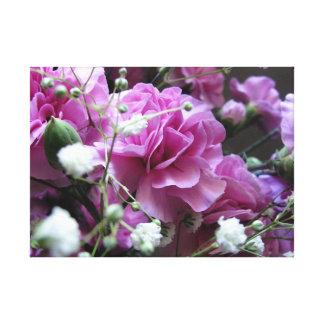 Impressão Em Tela Flores cor-de-rosa com respiração dos bebês