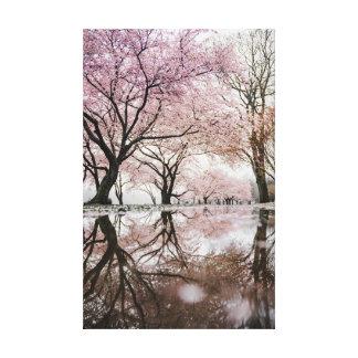 Impressão Em Tela Flores de cerejeira
