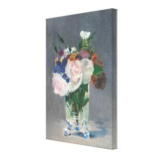 Impressão Em Tela Flores do vintage em um vaso de cristal por