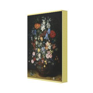 Impressão Em Tela Flores em um vaso cerâmico