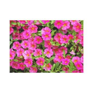 Impressão Em Tela Flores fúcsia/cor-de-rosa