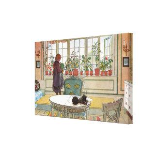 Impressão Em Tela Flores no Windowsill por Carl Larsson